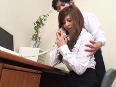 Asian cuttie getting toy fucked winning office