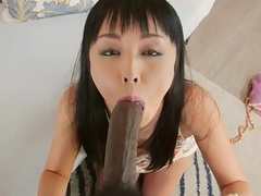 BBC loving japanese assfucked and facialized