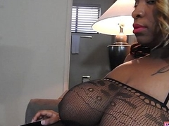 Thick Ebony Brat Acquires Her Ass Beat