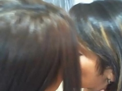 Two asian girls giving a kiss each other - more videos on MakeMeCams.com