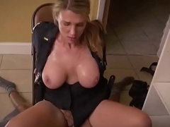 Blonde milfs in uniform feeding their lusty enterprising plump pussies