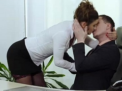 Julia Roca Has Her Hairy Pussy Pounded in a catch Office