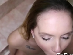 Little Soul Hollie Mack Sucking Cock POV