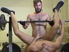 Throated gym jock assfucked in the long run b for a long time jerking off