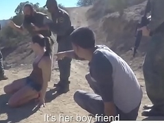 Brunette Latina Not fair On Border Fucking Outdoor