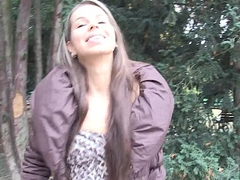 Young czech babe sucks cock fro the street be advisable for money