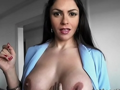 Huge boobs Latina fucks client pov in luxury house