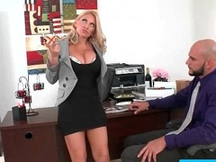Hot busty secretary pounded unconnected with her boss in the office 21