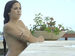 TittyAttack - Busty Latina Fucked By The Pool