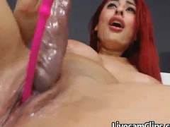HOT Fiery Redhead Gaffer College Chick Camming!