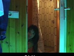 European hottie fucking old guy in the sauna cumshot acquisition bargain