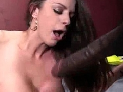 White Girl Spit Roasted By Big Black Cock 11