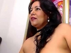 Hot Milf pleasuring her ass with a dildo - More on girls-69.com