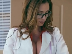 Milf pollute with burly boobs fucks with a confused patient