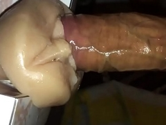 big cock fucks pussy toy