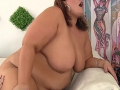 Huge Honey Blows a Person and Gets Her Fat Pussy Fucked