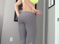 Hot gym girl masturbrates on ATAFILM.COM