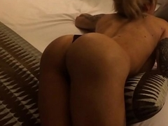 hot sexy ass petite bitch in hotel room seduces