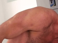 Ripped hairy bear sucking and fucking
