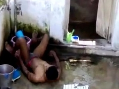 indian gay boys plays while bathing