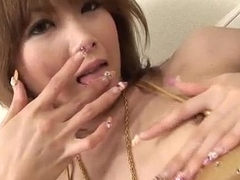 Rika Sakurai amazes with her perfect cock sucking skills